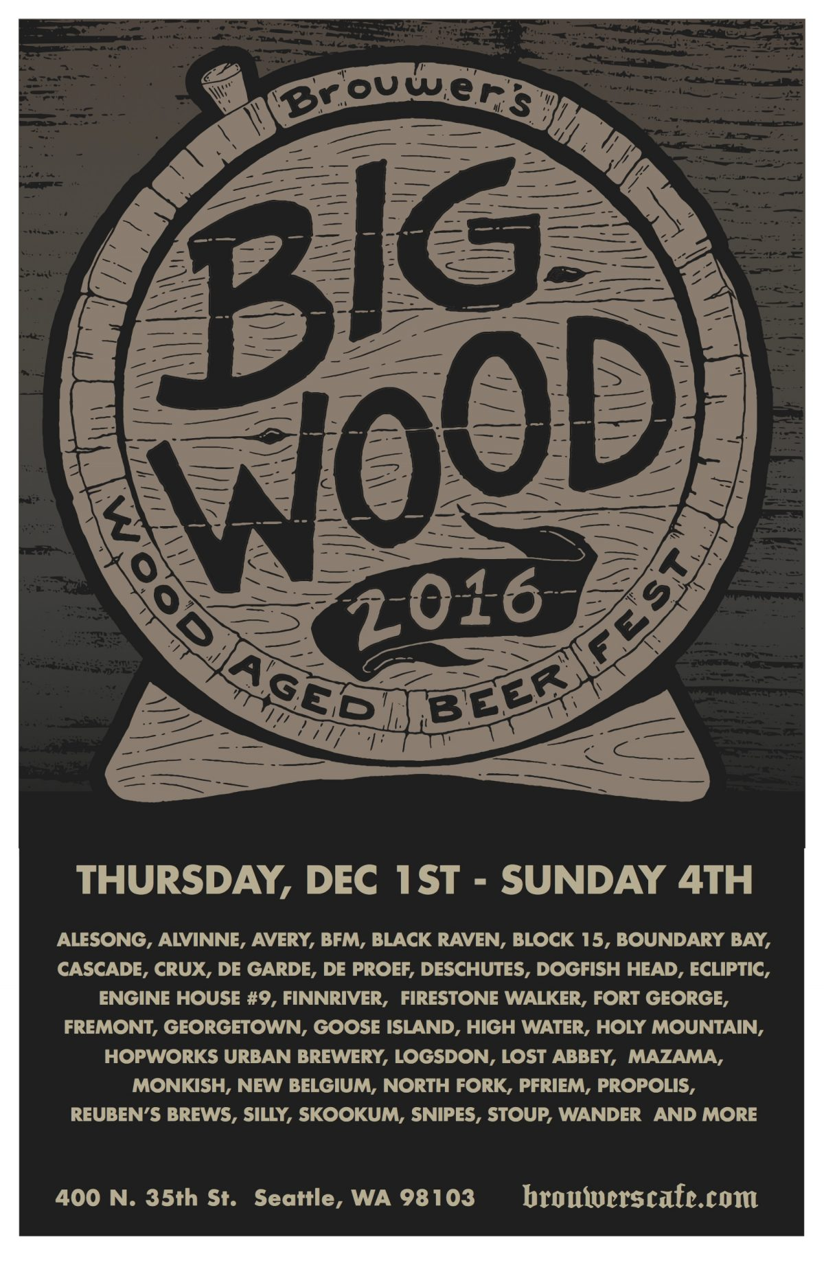 Bigwood Festival Starts December 1st @ 11am