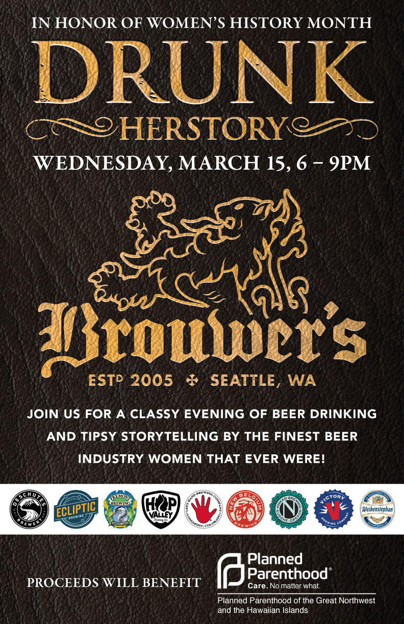 Wednesday, March 15th @ 6, Drunk Herstory Planned Parenthood Fundraiser!