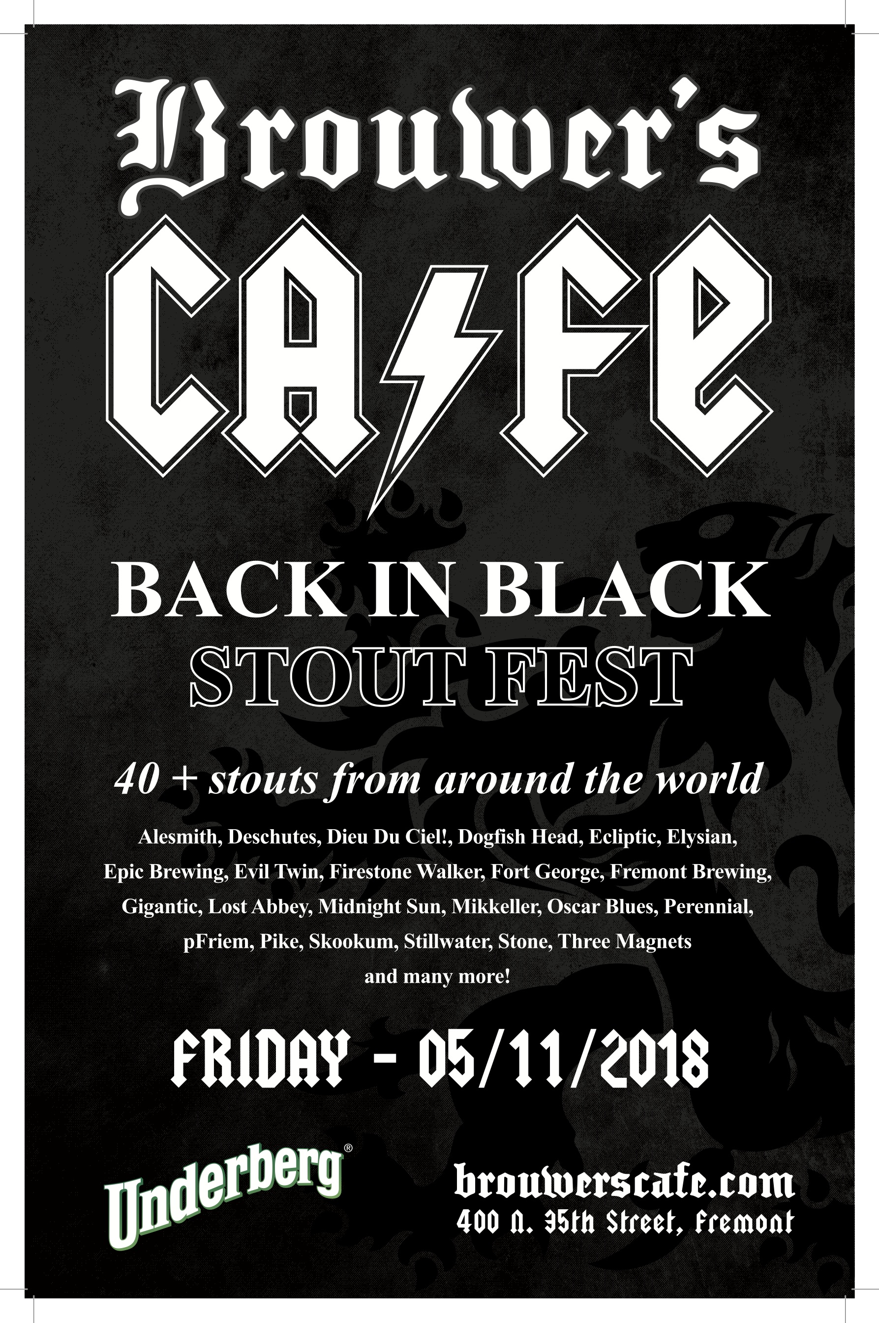 Friday, May 11th @11am Back in Black Stout Fest