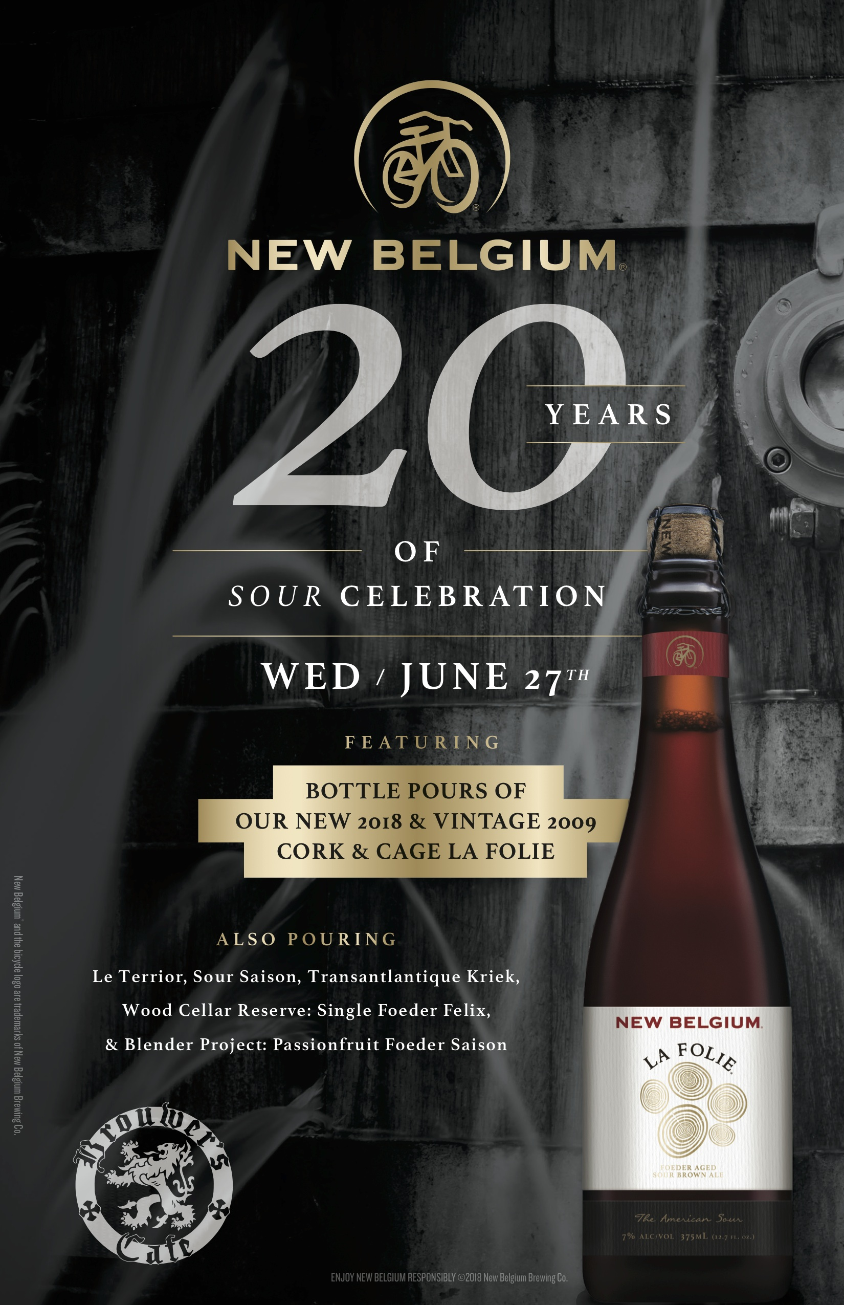 Wednesday, June 27th @ 5pm, Celebrate New Belgium 20 Years of Sour