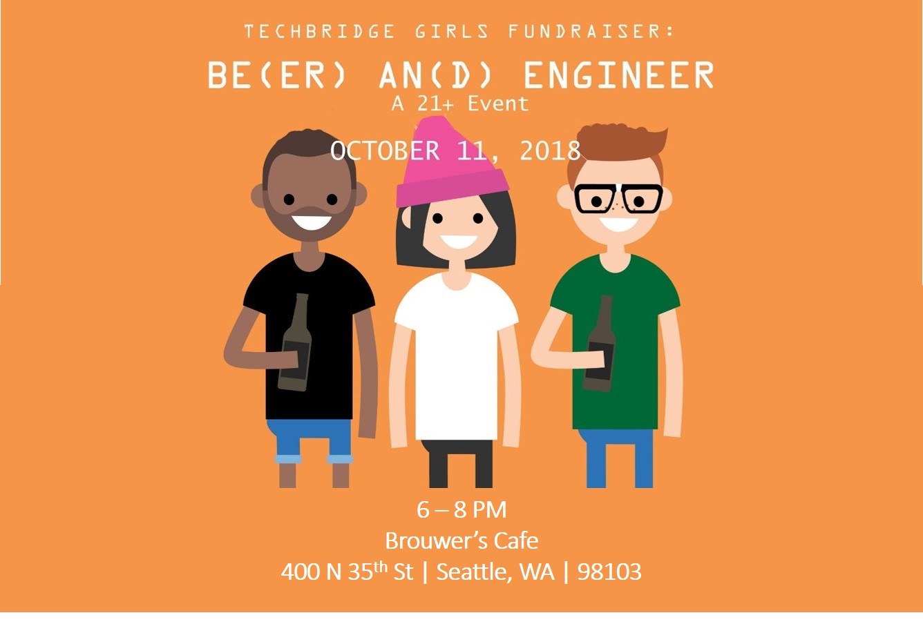 Thursday, October 11th 6-8pm, A Fundraiser for Techbridge