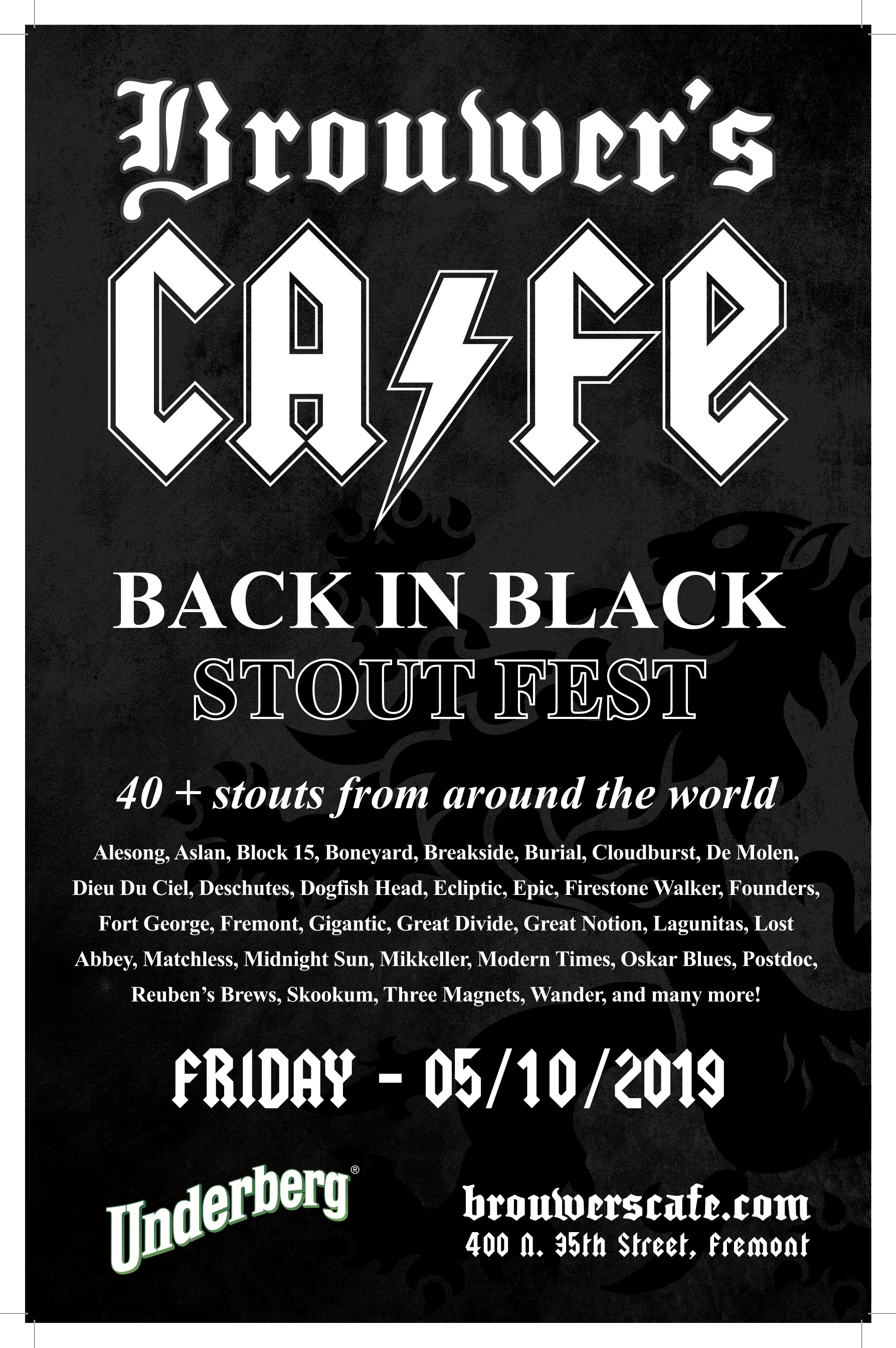 Friday, May 10-12, Back in Black Stout Fest