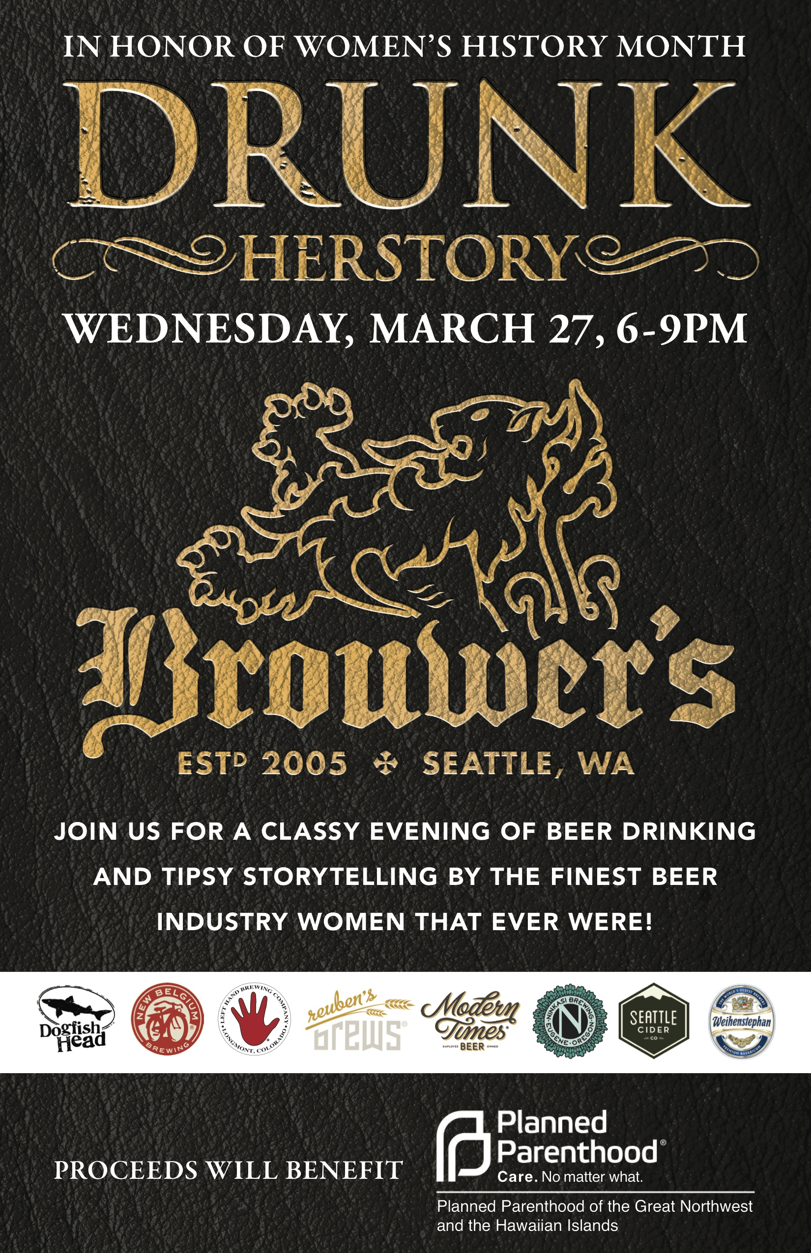 Wednesday, March 27th @  6pm Drunk Herstory 3