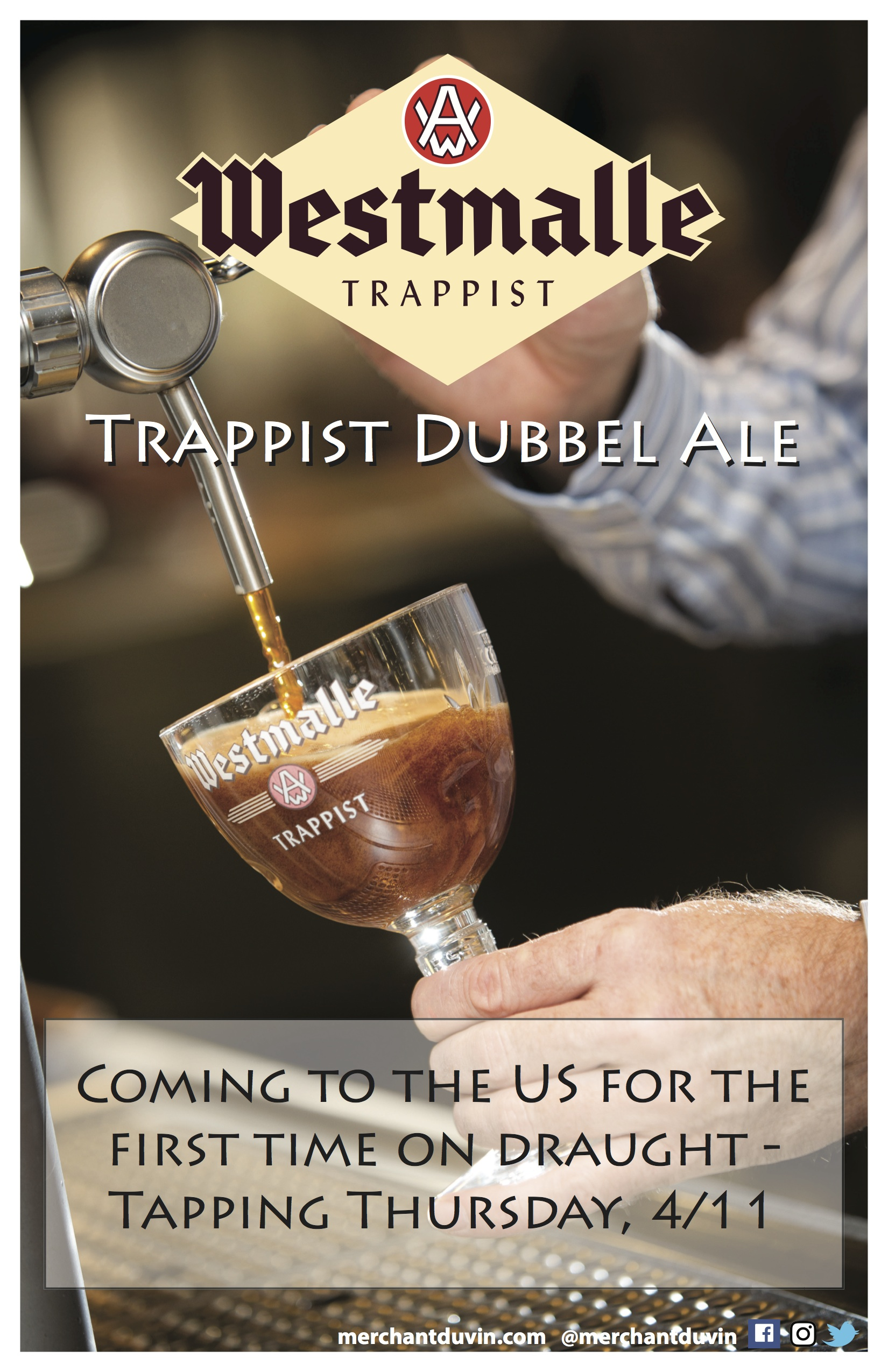 Thursday, April 11th Westmalle Dubbel on Draft