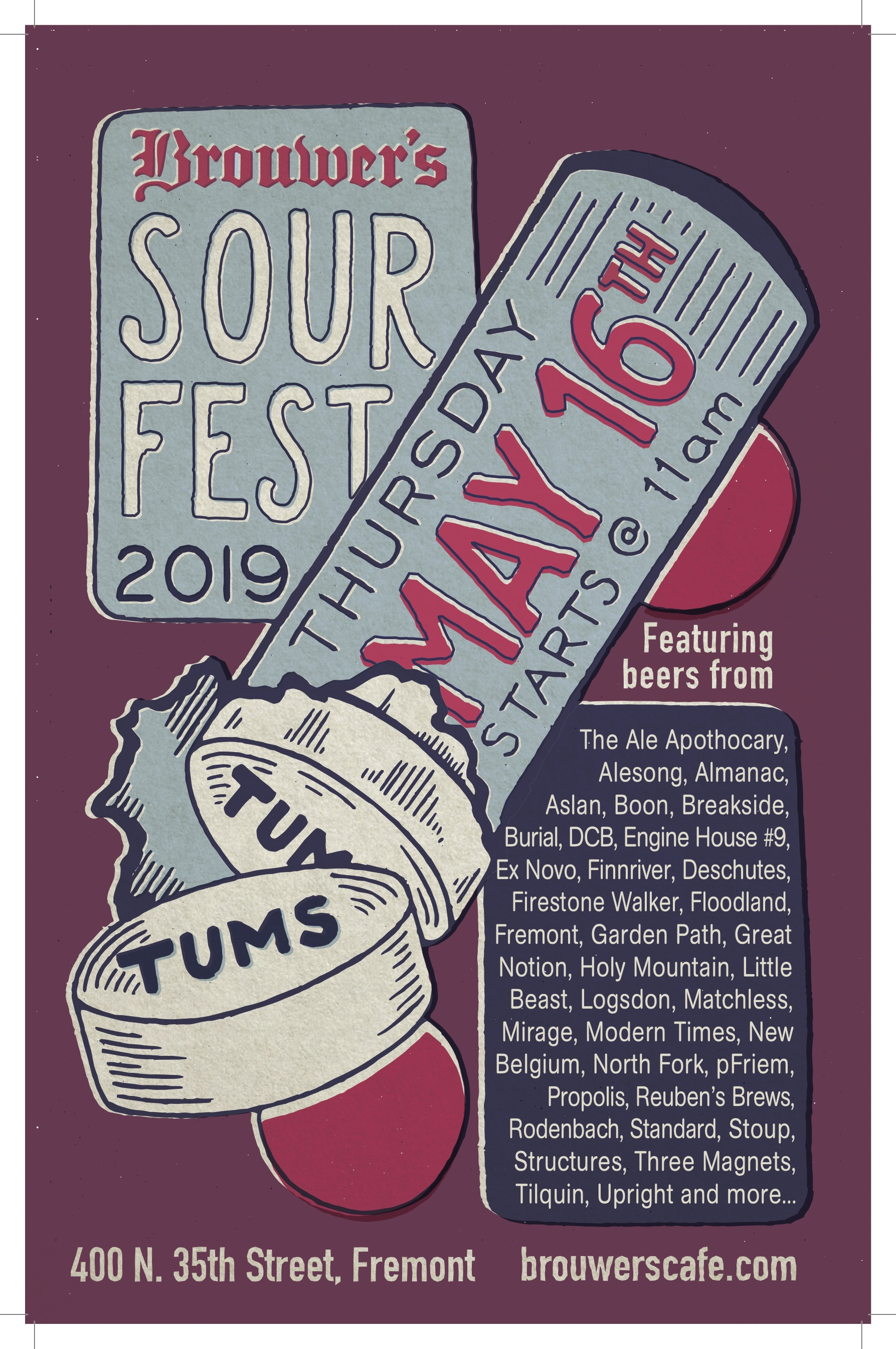 Thursday, May 16th @ 11am, Sour Fest