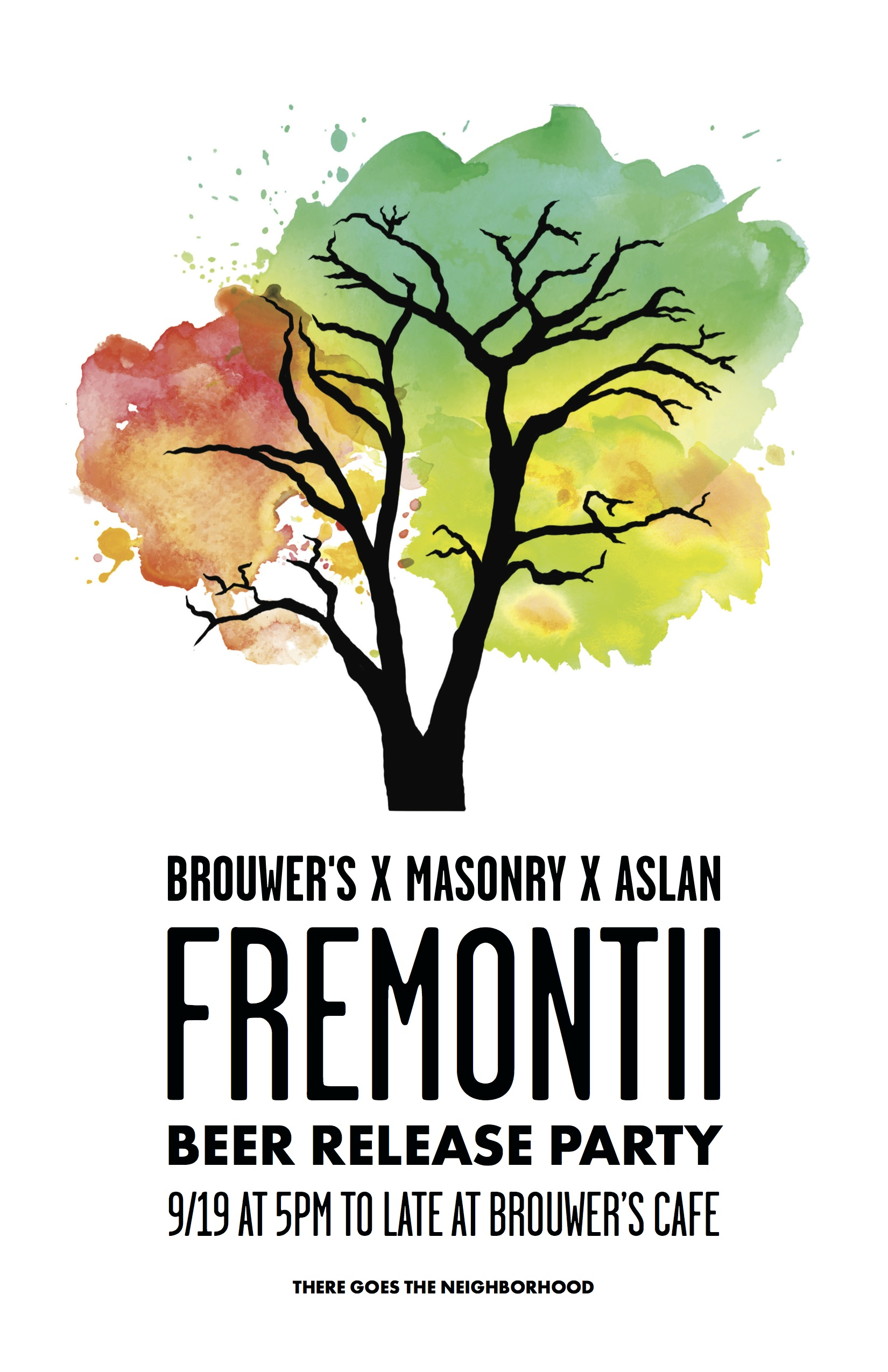 Thursday, September 19th @ 6pm Aslan/Masonry/Brouwer's Fremontii Beer Release